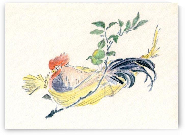 Bird in a Basket by Ogata Gekko