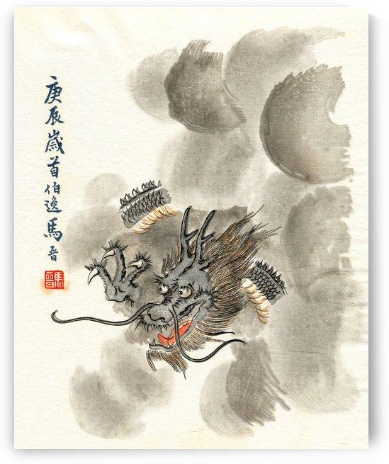 Dragon in the sky by Ogata Gekko