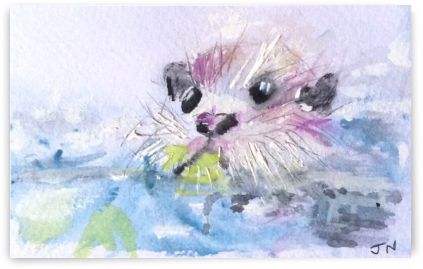 Ollie The Otter  by Zaramar Paintings