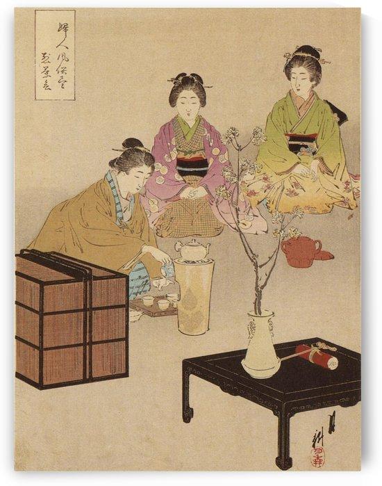 Tea ceremony by Ogata Gekko