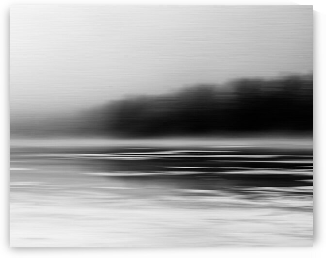 Winter on Cunningham Pond by Dave Therrien