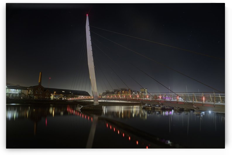 Late evening at Swansea Sail Bridge by Leighton Collins