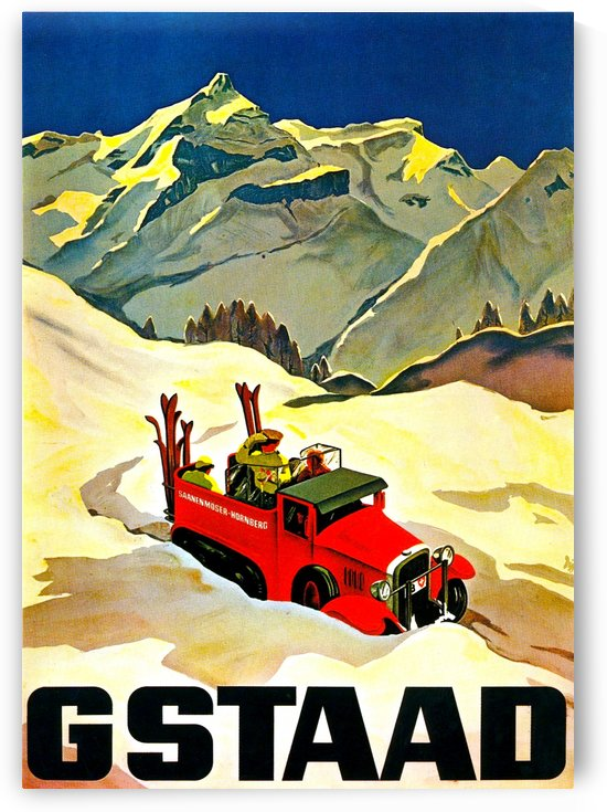 Vintage Travel - Gstaad by Culturio