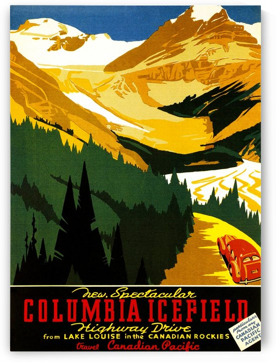 Vintage Travel - Columbia Icefield by Culturio