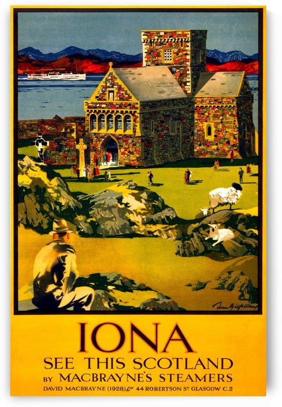 Vintage Travel - Iona Scotland by Culturio
