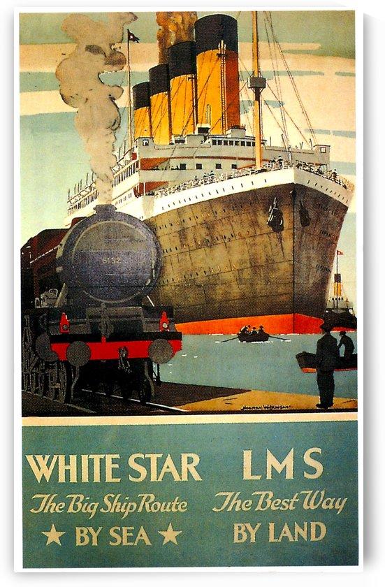 Vintage Travel - White Star by Culturio