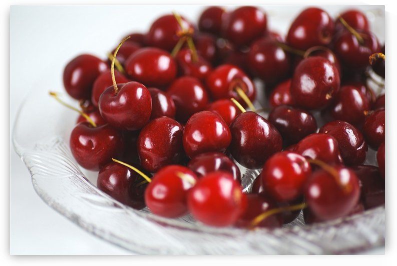 Summer On A Plate Cherries by Joy Watson