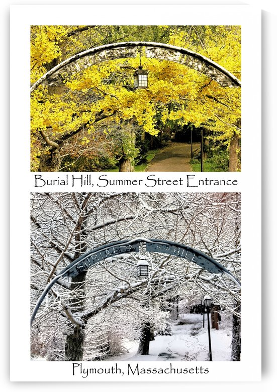 Burial Hill Summer Street entrance collage  by Photography by Janice Drew