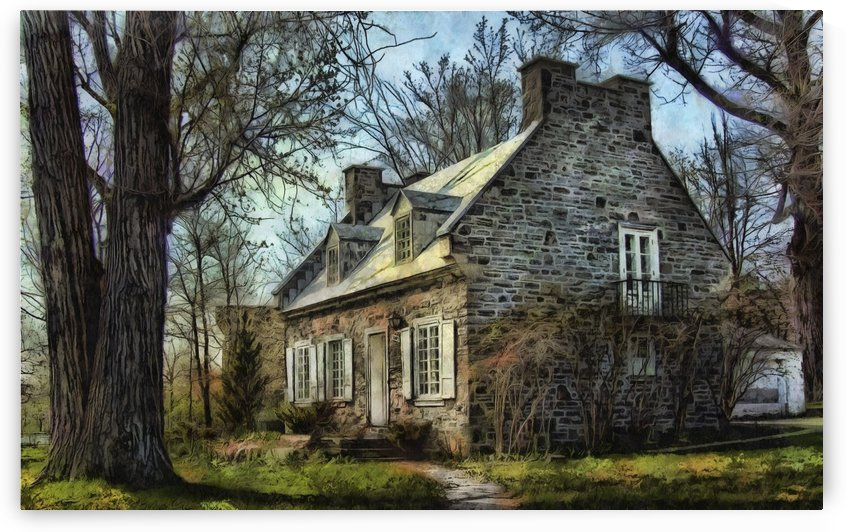 Old Quebec-Style Home by Robert Knight