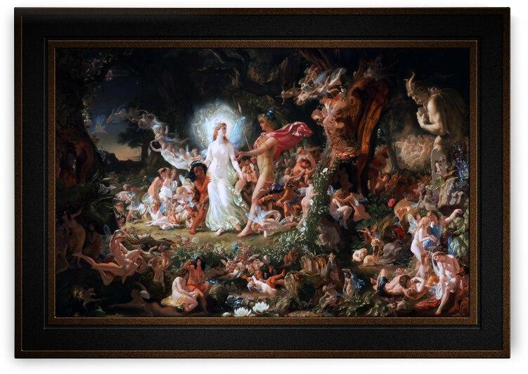 The Quarrel of Oberon and Titania by Joseph Noel Paton by xzendor7