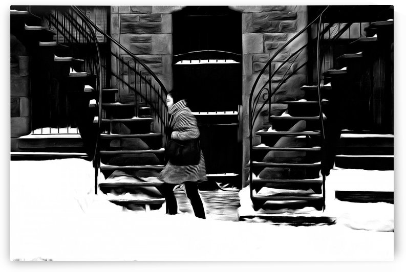 Trudging Through the Snow by Robert Knight