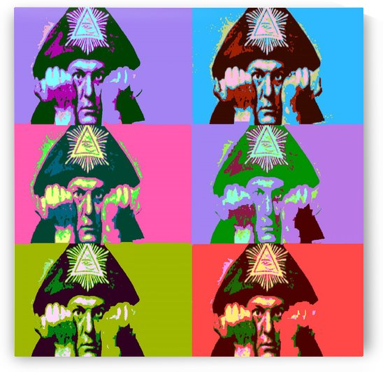 Aleister Crowley Pop Art by Matthew Lacey