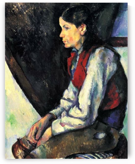 Boy with Red Vest by Cezanne by Cezanne