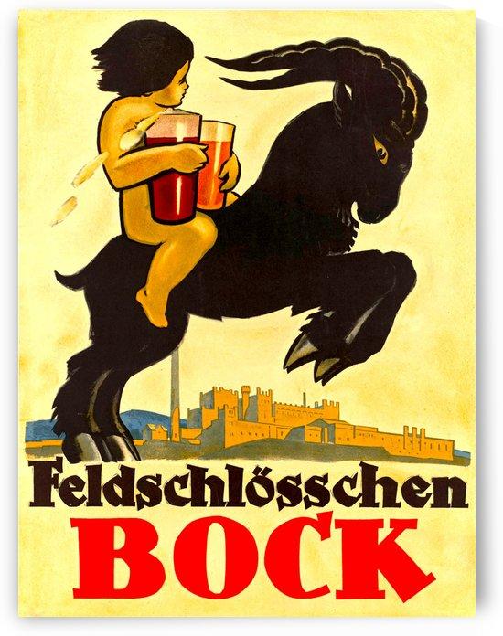 Vintage Advertising - Feldschlosschen Bock by Culturio