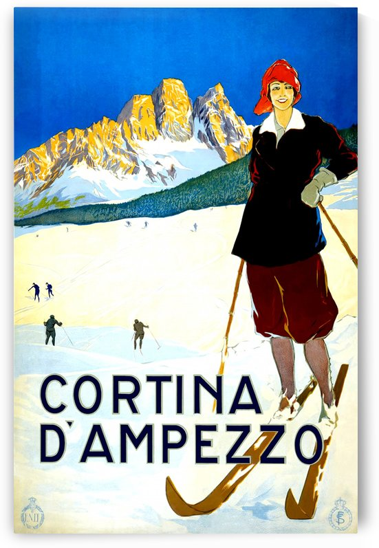 Vintage Travel - Cortina Dampezzo by Culturio