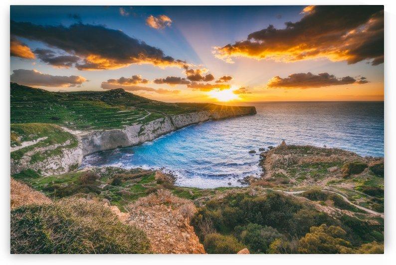 Fomm Ir Rih Sunset by Robert Zahra