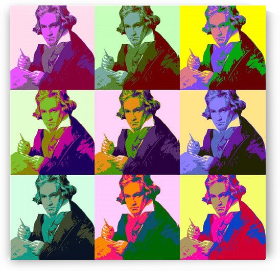 Ludwig Van Beethoven Pop Art by Matthew Lacey