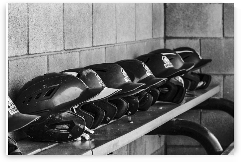 Helmets on a Bench  by Leah McPhail