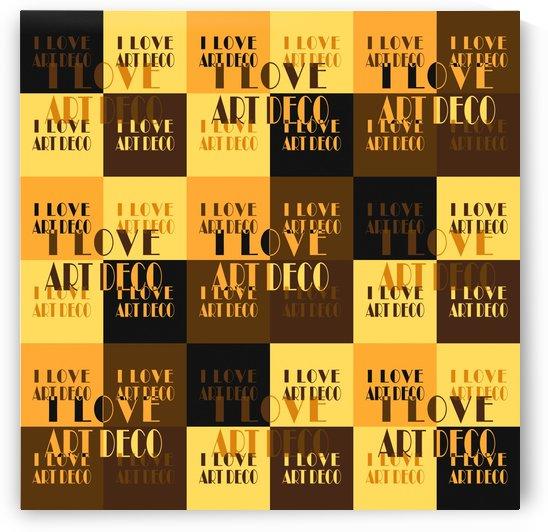 I Love Art Deco Typographic Motif Collage Print by Daniel Ferreia Leites Ciccarino