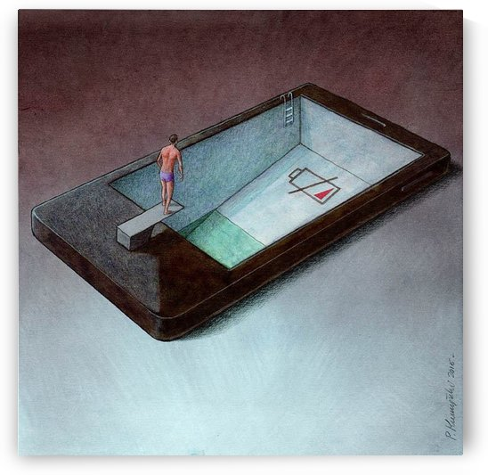 low battery by Pawel Kuczynski