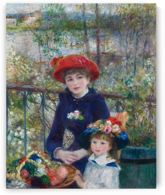 Two Sisters On the Terrace - Pierre-Auguste Renoir by LaPassion Fine Arts