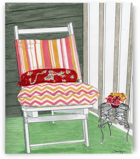 Beach Chair, Sans Beach by Jayne Somogy