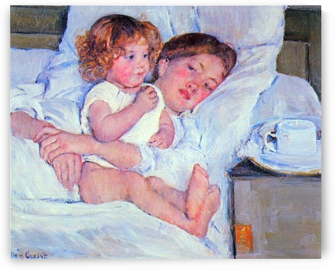 Breakfast in bed by Cassatt by Cassatt