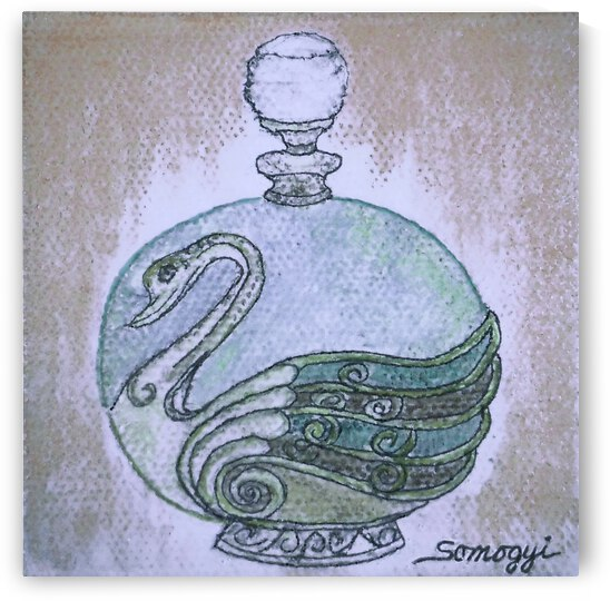 Bottled Blue Denim Swan by Jayne Somogy