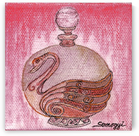 Bottled Burgundy Swan by Jayne Somogy