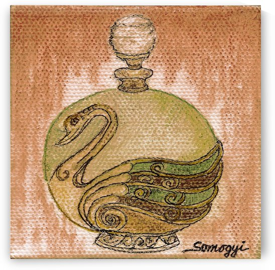 Bottled Copper Swan by Jayne Somogy