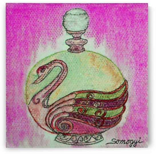 Bottled Purple Swan by Jayne Somogy