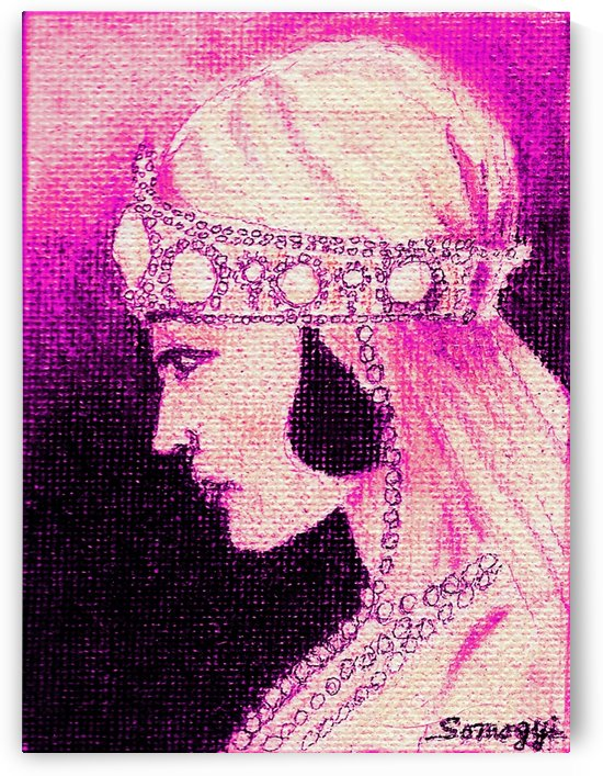 1920's Bride -- in Purple by Jayne Somogy