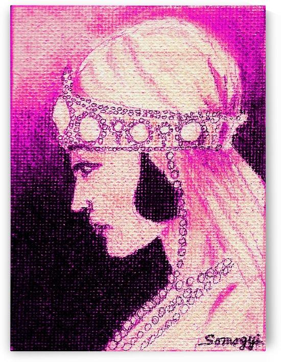 1920's Bride -- in Purple by Jayne Somogy