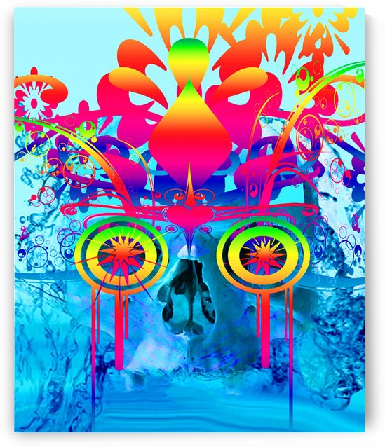 Psychedelic Skull by Matthew Lacey