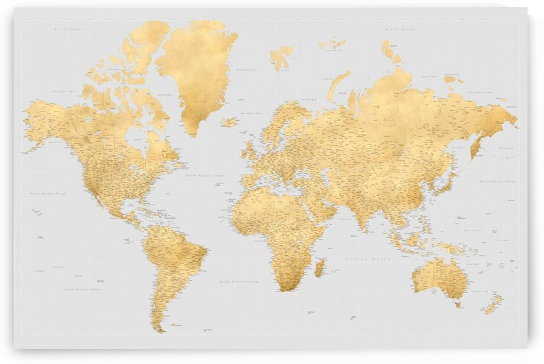 highly detailed world map ochre gold and grey by blursbyai