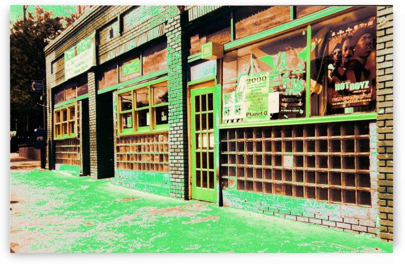 Atlanta Street Scene -- Copper & Green by Jayne Somogy