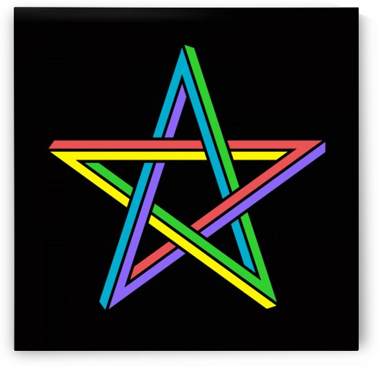 Otical illusion Star by Matthew Lacey