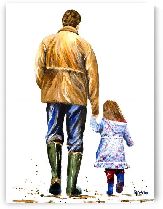 Another Walk with Grandpa by DHWebbArt
