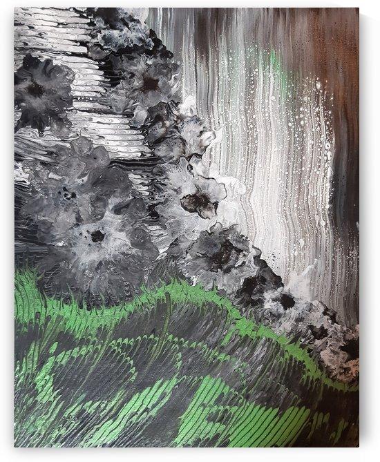 Falling flowers in the rain  by Vanja Zanze
