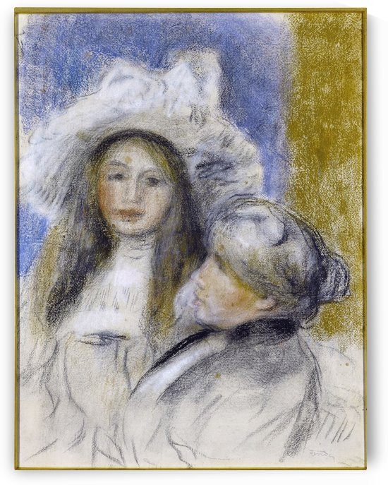 Portrait of Berthe Morisot and her daughter by Auguste Renoir