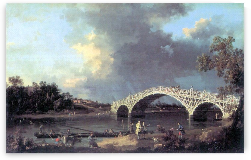 Bridge by Canaletto by Canaletto