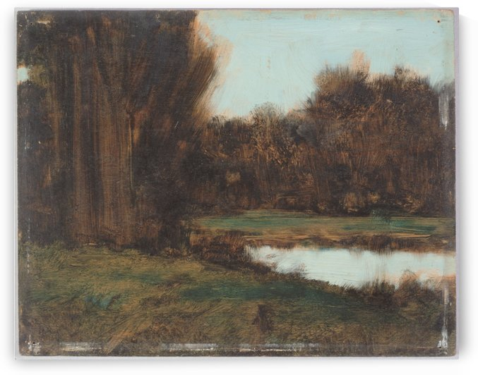 Paysage d Alsace une mare by Jean-Jacques Henner