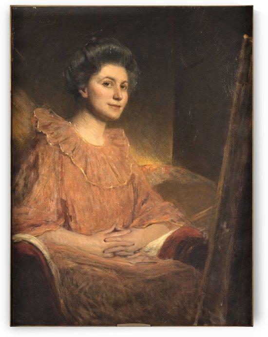 Portrait d Angele Delasalle by Jean-Joseph Benjamin-Constant