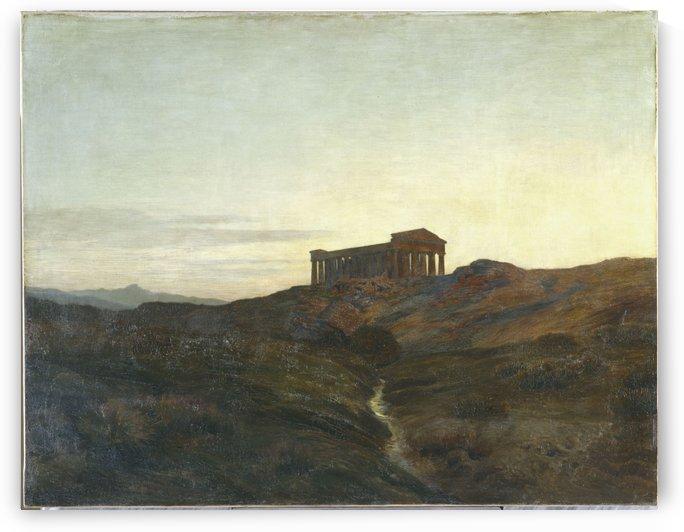 Terre antique le temple by Emile Rene Menard,