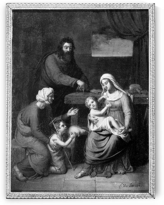 Esquisse pour l eglise Saint Jacques du Haut Pas La Sainte Famille by Frederic Delanoe