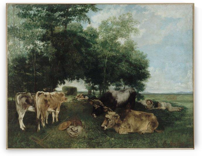 La sieste pendant la saison des foins by Gustave Courbet