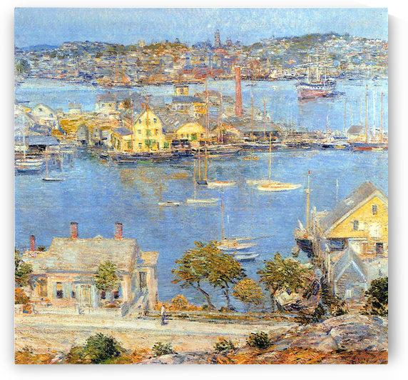 The port of Gloucester -1- by Hassam by Hassam