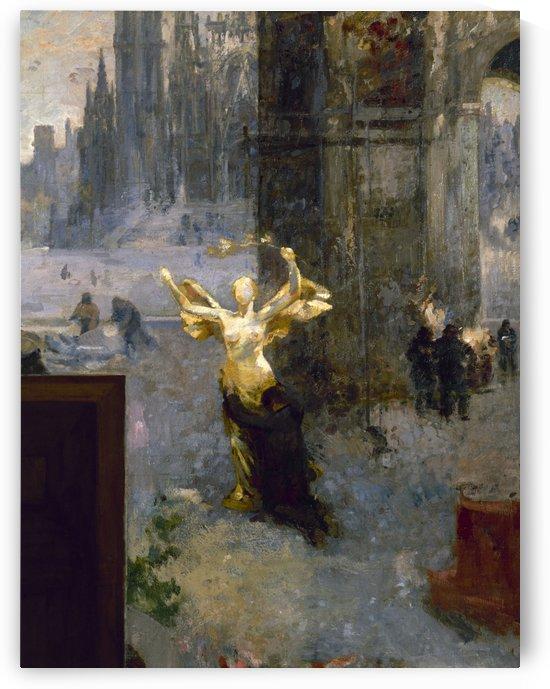Esquisse pour l Hotel de Ville de Paris Art Mouvement Travail Lumieres by Alfred Philippe roll