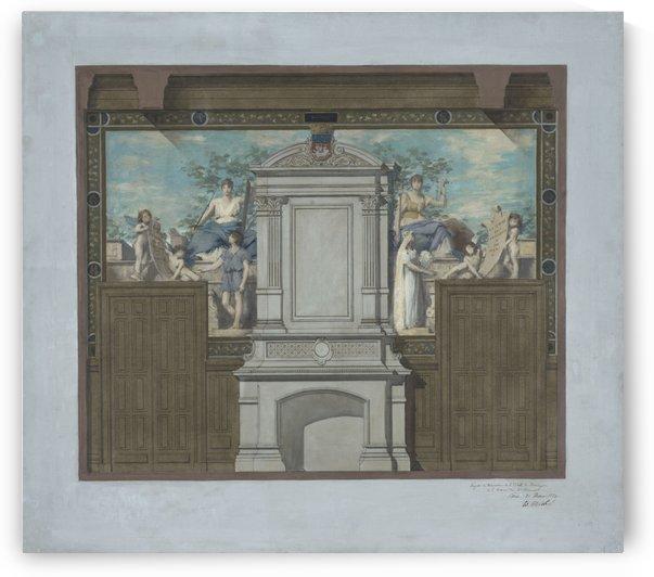 Esquisse pour la mairie du 20eme arrondissement Le Mariage by Edouard Michel-Lancon