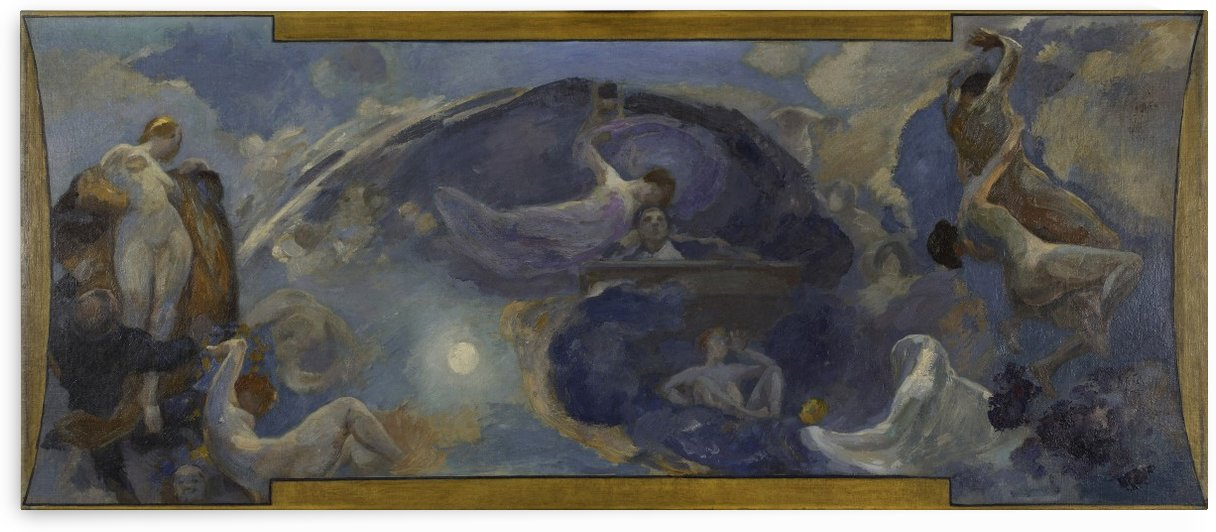 Esquisse pour le Petit Palais galerie sud Poesie Drame by Alfred Philippe Roll